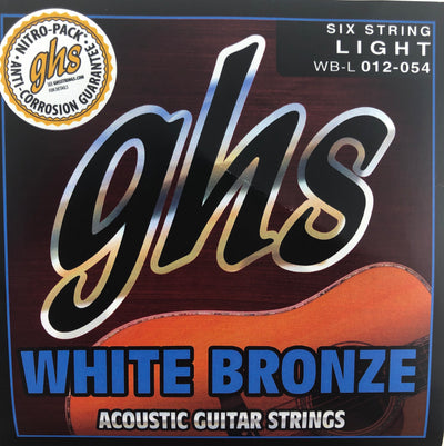GHS White Bronze Light Acoustic/Electric Guitar Strings