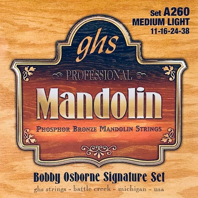 GHS A260 Medium Light Phosphor Bronze Mandolin Strings