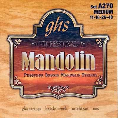 GHS A270 Medium Phosphor Bronze Mandolin Strings