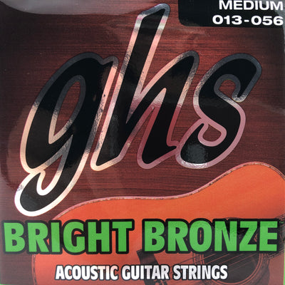 GHS Bright Bronze Medium Acoustic Guitar Strings