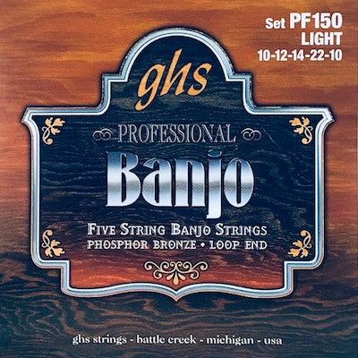 GHS PF150 Light Phosphor Bronze Banjo Strings