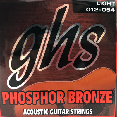 GHS Phosphor Bronze Light Acoustic Guitar Strings