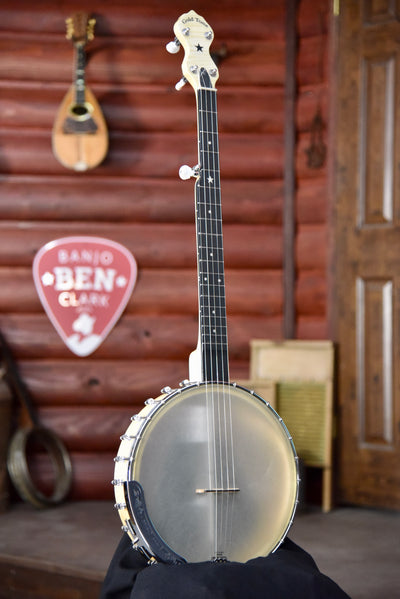"GoldTone CC-Carlin 12 inch ""Plus"" Openback Wide Nut Banjo With Case"