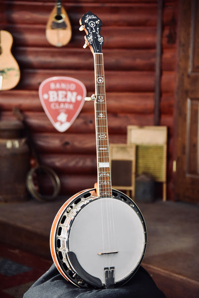 Gold Star GF100 Wreath Mahogany 5-String Bluegrass Banjo With Case