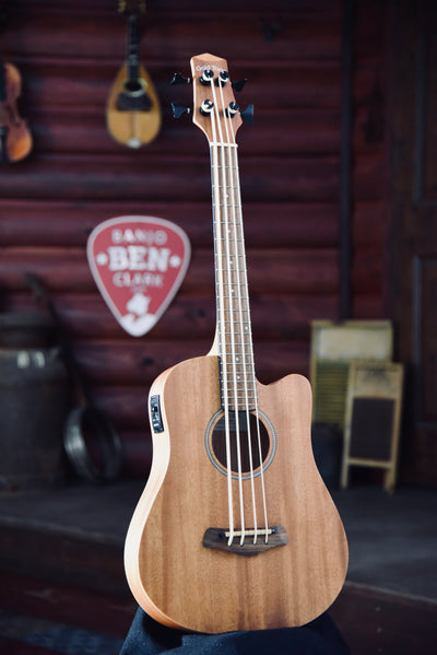 Bundle Deal - Gold Tone M-Bass 23 Inch Scale Acoustic Electric Micro Bass With Case