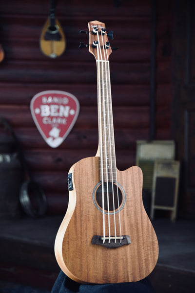 Bundle Deal - Gold Tone M-Bass 23 Inch Scale Fretless Acoustic Electric Micro Bass With Case