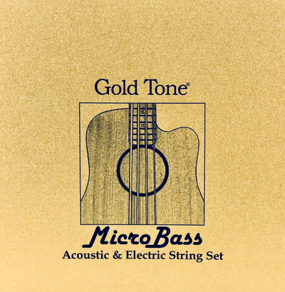 Gold Tone Micro Bass Rubber Strings