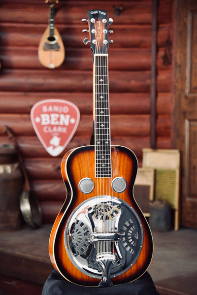 "Gold Tone PBS-M ""Mastertone"" Solid Mahogany Square Neck Resonator Guitar With Case"