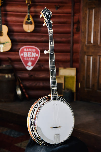 Stelling Maple Golden Cross Old Wood Rim 5-String Bluegrass Banjo with Case