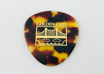 Golden Gate Rounded Flat Pick