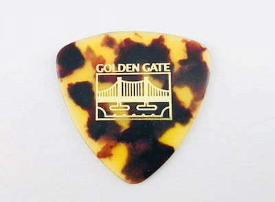 Golden Gate Triangle Tortoise Flat Pick