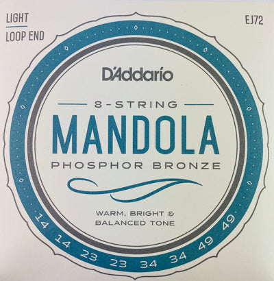 D'Addario EJ72 Light Phosphor Bronze Mandola Strings