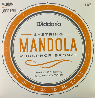 D'Addario EJ76 Medium Phosphor Bronze Mandola Strings
