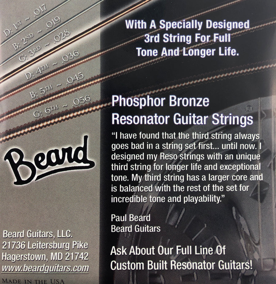 Beard Special 28's Phosphor Bronze Resonator Guitar Strings