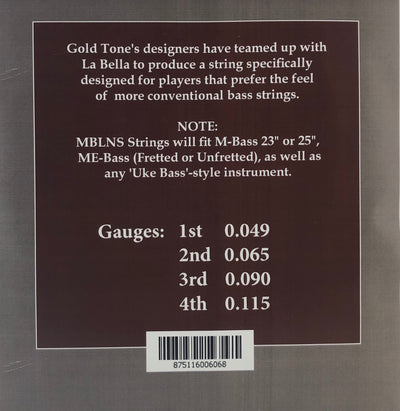 Gold Tone Micro Bass Silverback Strings