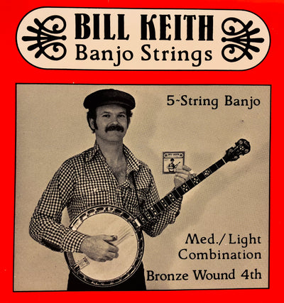 Bill Keith Medium Light Bronze Wound 5-String Banjo Strings