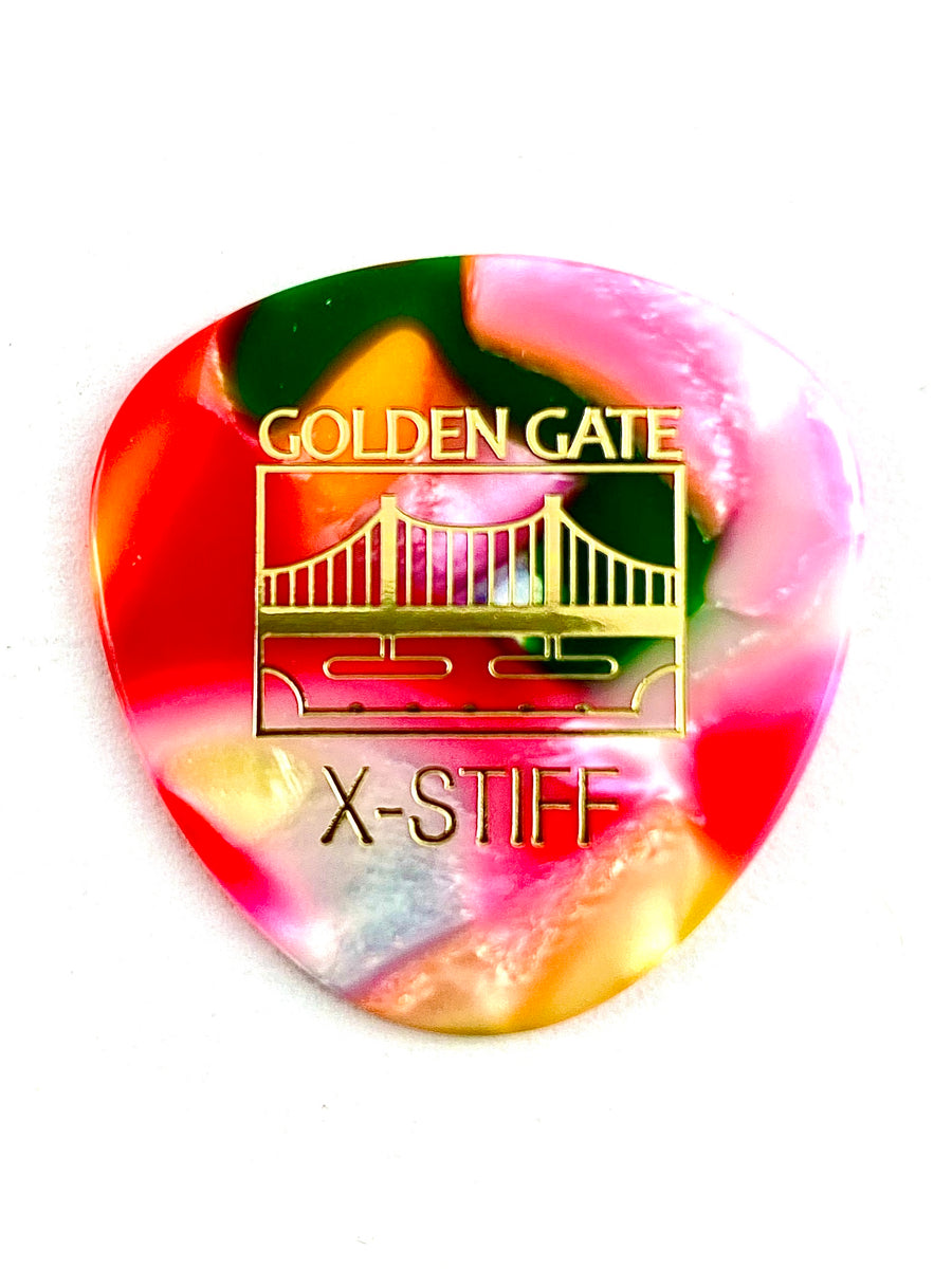 Golden Gate Rounded Multi-Color (Clown Barf) Flat Pick