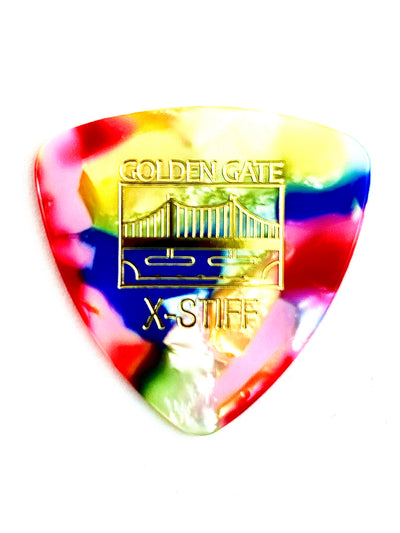 Golden Gate Triangular Multi-Color (Clown Barf) Flat Pick
