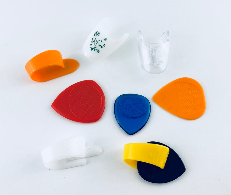 Fred Kelly Flat Pick, Thumb Pick, and Finger Pick Variety Pack