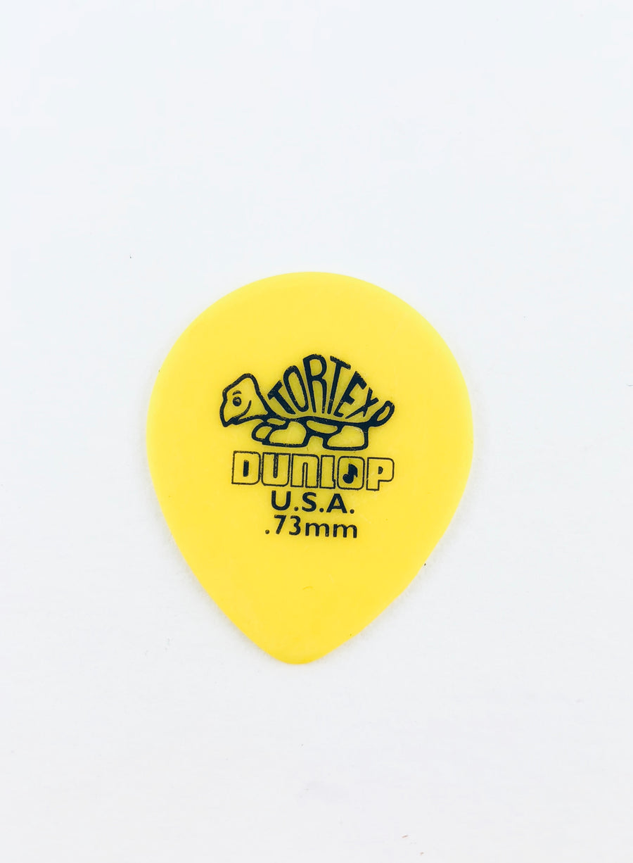 "Dunlop Tortex Small Rounded ""Teardrop"" Flat Picks (Choose Preferred Thickness)"