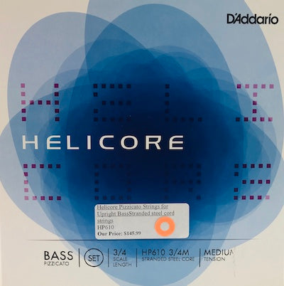 Helicore Pizzacato Medium Tension Upright Bass Strings