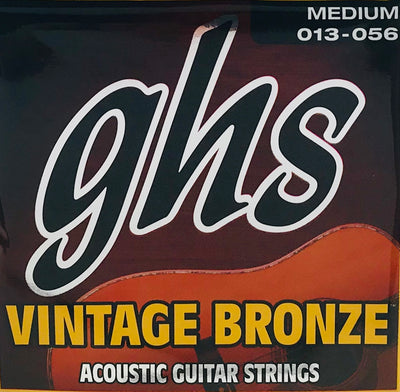 GHS Vintage Bronze Medium Acoustic Guitar Strings