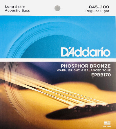 D'Addario EPBB170 Light Phosphor Acoustic Bass Strings