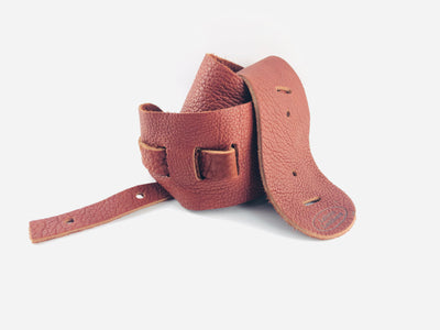 "Lakota Leathers 3"" Cradle Banjo Strap - Available in Brown, Black, or Tobacco Finish"