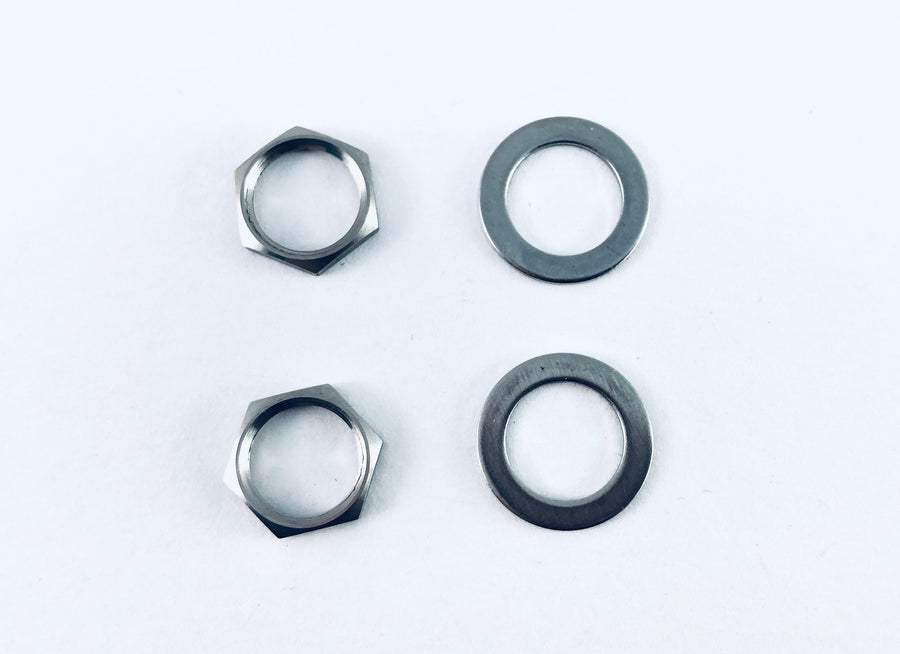 Beacon Banjo Stainless Steel Finish Replacement Nuts And Washers (Set of 2 Each)