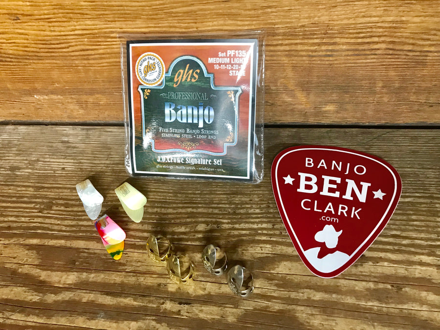 Basic Banjo Pickers Gift Bundle - Strings and Picks
