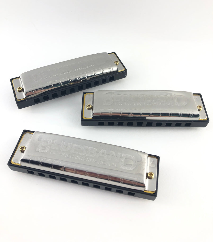 Hohner Blues Band Harmonicas- Value Pack of 3
