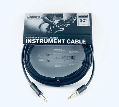 "D'Addario 20' Instrument Cable with 1/4"" Connectors - PW-AMSK-20"