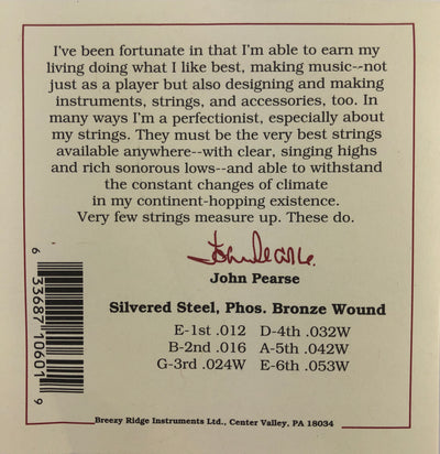 John Pearse Set#600L Light Phosphor Bronze Guitar Strings