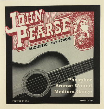 John Pearse Set#700M Medium Phosphor Bronze Guitar Strings
