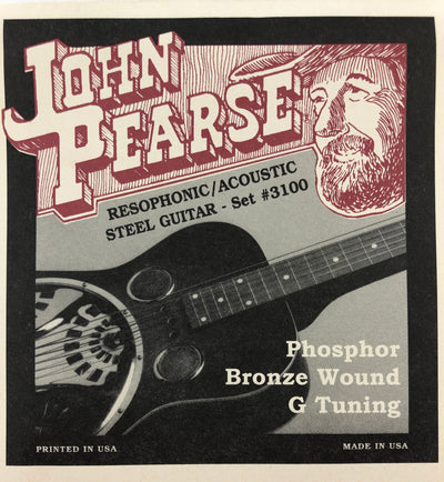 John Pearse Set# 3100 Phosphor Bronze Wound Resophonic Steel Guitar Strings