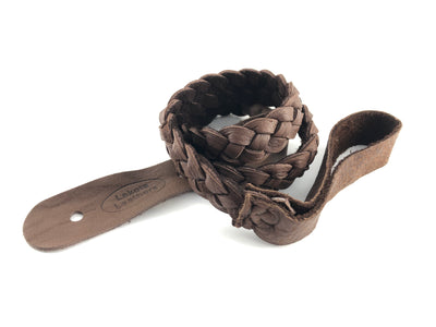 Lakota Flat Braided Mandolin Strap - Available in Brown, Tobacco, Black or Gold