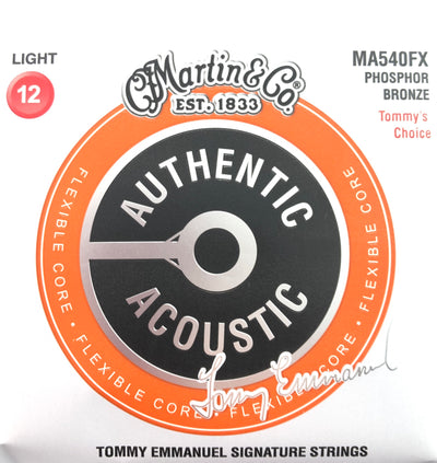 Martin & Co. MA540FX Authentic Phosphor Bronze Acoustic Tommy Emmanuel Signature Guitar Strings