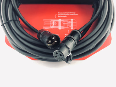 D'Addario 25' Microphone Cable 3 Prong XLR Connections - PW-AMSM-25