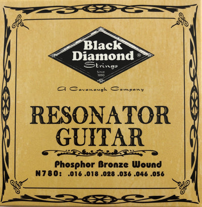 Black Diamond N780 Phosphor Bronze Resonator Guitar Strings