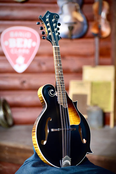 Northfield F5S F-Style Black Top Mandolin With Case