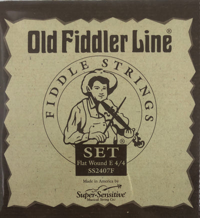 Old Fiddler Line Flat Wound Fiddle Strings 4/4 Size