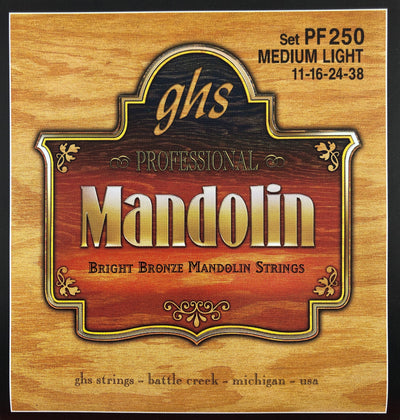 GHS PF250 Medium Light Bright Bronze Mandolin Strings