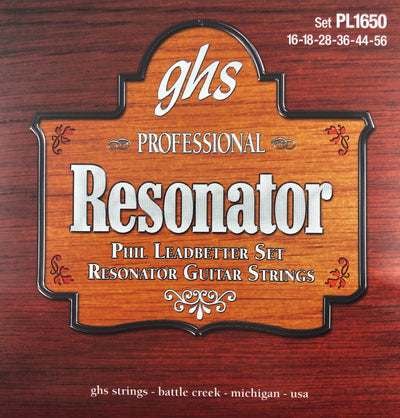 GHS PL1650 Phil Leadbetter Phosphor Bronze Resonator Acoustic Guitar Strings