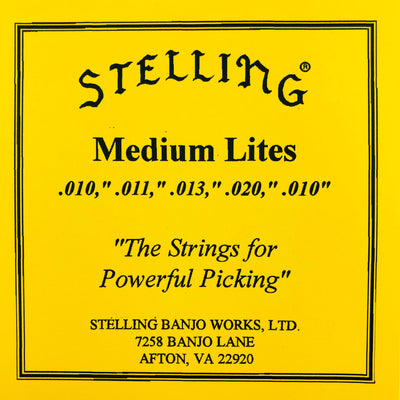 Stelling Banjo Strings - Medium Lites