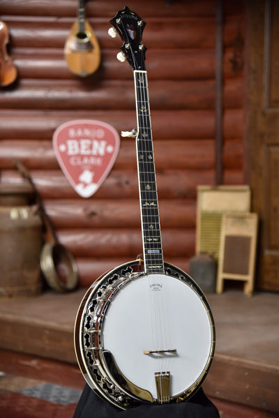 Stelling Red Fox 5-String Old Wood Rim Maple Banjo With Case