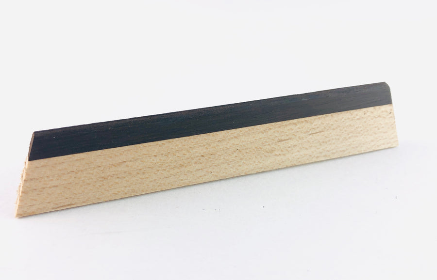 Beard TE-190 Maple/Ebony Tri-Cone Bridge Insert - Unslotted