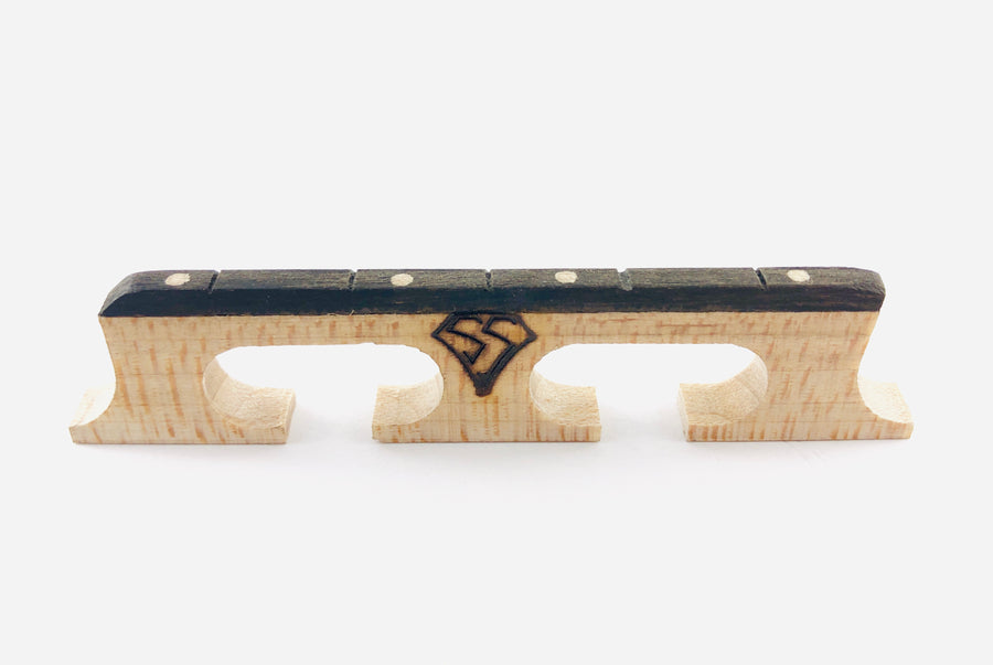 "Snuffy Smith ""Pegged"" Bridge for 5-String Banjo"