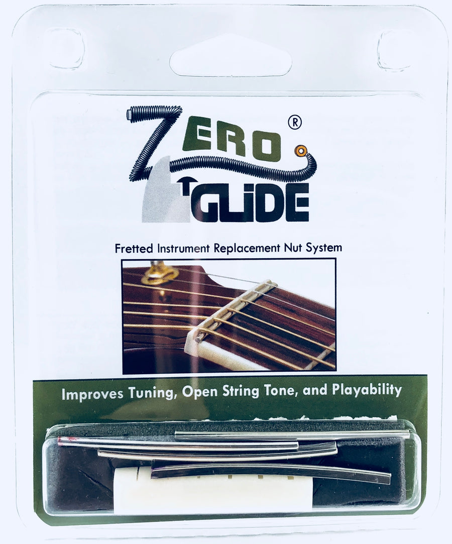 Zero Glide Replacement Nut System for Acoustic Guitar