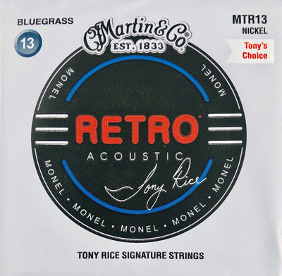 Martin & Co. MTR13 Retro Monel Nickel Acoustic Tony Rice Signature Guitar Strings