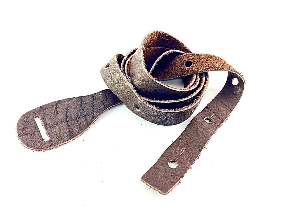 """Super Soft"" 1"" Brown Flat Mandolin Strap For A-Style or F-Style"